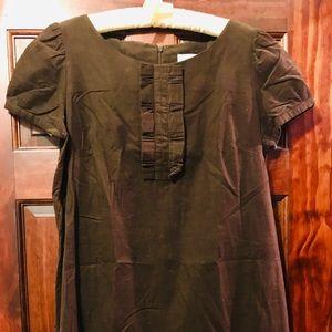 Baby whale chocolate brown corduroy dress